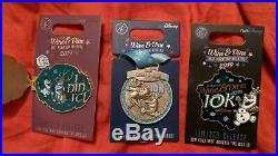 Pin Run Disney Wine & Dine 1/2 Marathon 2019 Set of 3 10 K I Did It/Logo/Medal