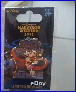 Pin Run Walt Disney World Marathon Weekend 2018 Logo Set of 6 Goofy Dopey Mickey