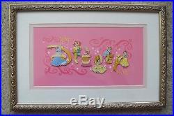 Pin Set 46255 WDW Disney Princess Letters Framed Pin Set of 6 Princess Pins