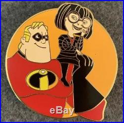 Pixar Friends Disney Fantasy Pin LE 36/50 Mr Incredible Edna Mode HTF Parr Rare