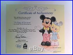 Precious Moments Disney Theme Park Exclusive THE MAGIC OF THE SEASON 710050