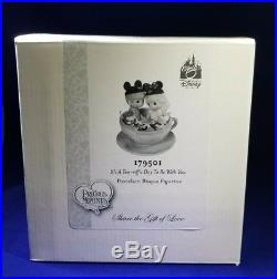 Precious Moments SIGNED Disney Theme Park Exclusive It's A Tea-riffic Day