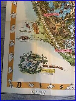 RARE 1958 DISNEYLAND MAP Version C Theme Park Poster 30 X 45