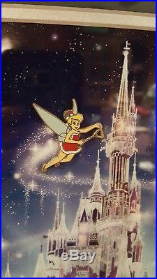 RARE 2008 Disney Christmas Castle Framed Pin Set LE 100! Original Box mint
