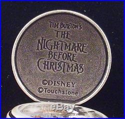Rare Disney Theme Parks Nightmare Before Christmas Jack & Zero Pocket Watch