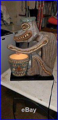 RARE Disney Enchantment Tiki Room Drummer God Figure with Lighted Drum