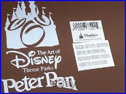 RARE Disney Theme Parks 60th Anniversary Peter Pan Art Statue Big Fig Figurine