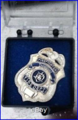 RARE Disney pin DLR Cast Member Firefighter Disneyland Fire Dept Shield Tie Tac