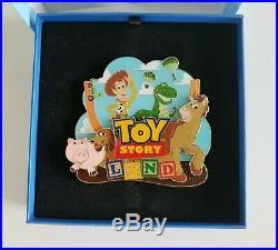 RARE Hong Kong Disneyland Tour JUMBO HKDL TOY STORY LAND PIN Woody Rex Slinky+