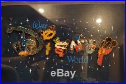 RARE Pin Set Walt Disney World Letters Framed Pin Set of 6 Pins RARE