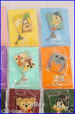 RARE! Tokyo Disney Resort 25th Anniversary Pin 20 Complete Set TDR JAPAN