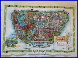 RARE Vintage 1964 DISNEYLAND MAP Theme Park Poster 30 X 45 MATTERHORN Art Litho