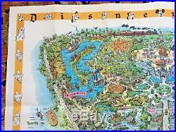 Rare 1958C Walt Disney's Disneyland USA Map Theme Park Souvenir Sam McKim