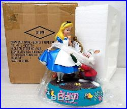 Rare Alice In Wonderland And White Rabbit Figurine Disney Theme Park Exclusive