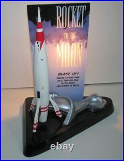 Rare Disneyland 50th Tomorrowland Rocket to the Moon Moonliner Lamp