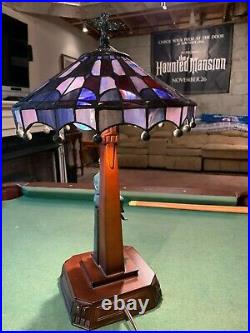 Rare Disneyland 50th anniversary Haunted Mansion stained glass lamp LE 999