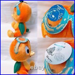Rare Florida Orange Bird Plush Coin Bank Keyring Pouch Disney Young Epoch Set