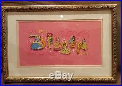 Rare Pin Set 46255 WDW Disney Princess Letters Framed Pin Set of 6 Princess Pins