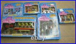 Rare Vintage 1988 Disney World Theme Park Magic TOWN SQUARE PLAY SET Bundle New