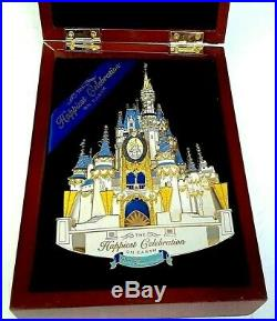 Rare Wdw Disney Boxed Super Jumbo Castle Pin 3d Le Happiest Celebration On Earth