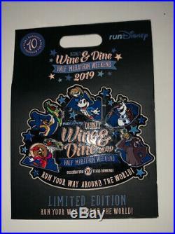 RunDisney 2019 Wine & Dine Half Marathon Disney Run Mini Jumbo Pin LE 500