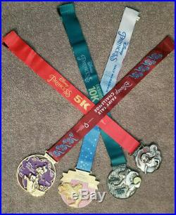 RunDisney WDW Walt Disney Marathon Princess Weekend 2019 Complete Medal Sets