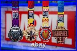 Run Disney 2019 Marvel Virtual Challenge Medals Complete Set Of 4 Plus Coin NIB