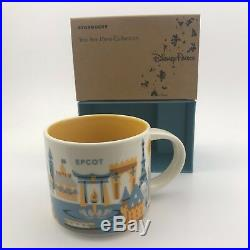 SET OF 4 Starbucks You Are Here 2018 Disney World Theme Parks 14oz Ceramic Mugs