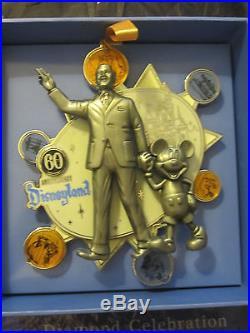 SIGNED Disneyland 60 Event SUPER JUMBO PARTNERS STATUE Walt Disney Mickey LE