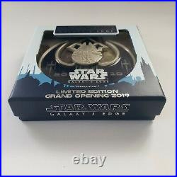 STAR WARS Galaxy's Edge Disneyland Limited Edition Grand Opening Media Pin 2019