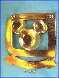 Scarce Original Walt Disney World Metal Hostess Identification Badge Salty Used