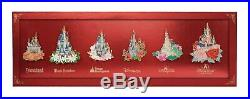 Shanghai Disney Pin Castle and Flower Jumbo pin setLE300