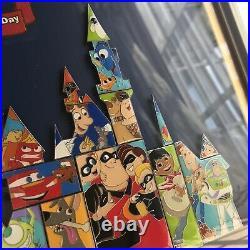 Shanghai Disney Pin pixar castle Frame set LE300 toy story buzz up monster