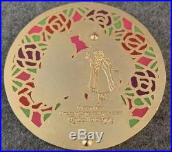 Sleeping Beauty Stained Glass Disney Fantasy Pin LE /75 Glitter Round Phillip