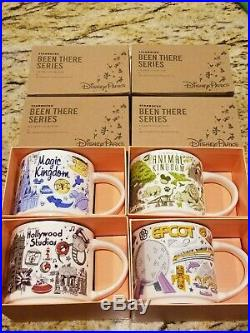 Starbucks Disney Parks Been There Series Coffee Mug Set of All 4 Theme Parks