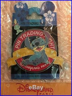 Stitch & Scrump Disneyland Paris Pin Trading Night PTN Jumbo Disney Pin LE 400