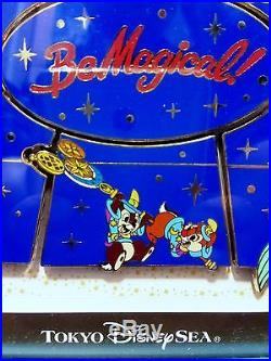 TDS 10th Be Magical Framed Puzzle 10 pin set(Japan Disney Ariel Chip Dale Genie)