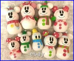 TOKYO Disney Christmas Snowman Mickey & Minnie Ornament complete SET candy case