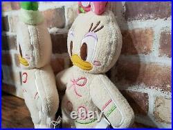 TOKYO Disney Resort GingerBread Donald & Daisy Pair Set 2 Plush Doll (H 11.81)