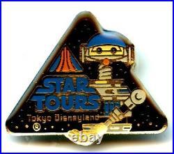 Tokyo Disneyland Star Tours Grand Opening Event V. I. P. Pin (Rare)