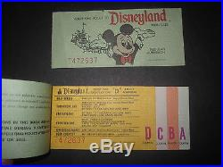 VTg 1976 PASS complete DISNEYLAND Theme Park BOOK ADULT ALL TICKET ATTACHED RARE