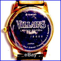 Villains Disney Theme Parks Unworn Limited Edition Watch Unnumbered of 3000 $199
