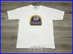 Vintage 80s Disney's Epcot SeaBase Alpha Living Seas Theme Park T-Shirt Size XL