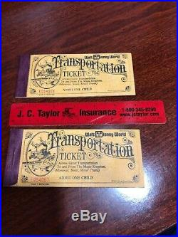 Vintage WALT DISNEY WORLD Coupon Book Theme Park Tickets 2 Sequential Numbers