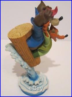 Vintage Walt Disney Splash Mountain Theme Park Statue Brer Bear & Fox In Box
