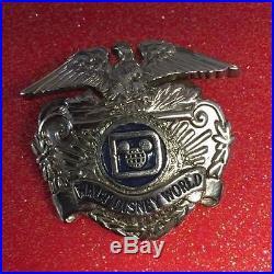Vintage Walt Disney World Security Officer Hat Badge