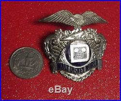 Vintage Walt Disney World Security Officer Hat Badge Engraved Sun Badge Co