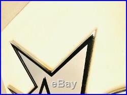 Vtg Walt Disney World Mgm Hollywood Studios Theme Park 21x20.5 Glass Sign-flaw