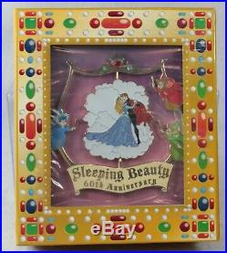 WDI Disney LE 200 Jumbo Spinner Pin Sleeping Beauty 60th Anniversary Aurora