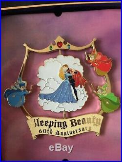 WDI MOG Disney Jumbo Spinner Pin Sleeping Beauty 60th Anniversary Aurora LE New